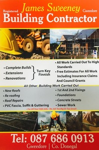 James sweeney building contractor , Gweedore