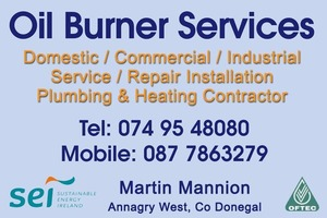 Oil burner services , Gweedore